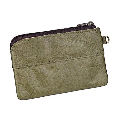 3b8913bda2c7 Fmeida Mens Leather Coin Pouch Purse Slim Zipper Change Purse Wallet ...
