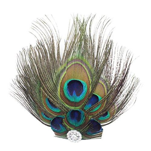 clip de pelo retro con pluma de pavo real tiara de novia pinza de cabello bailadora joyas para el pelo