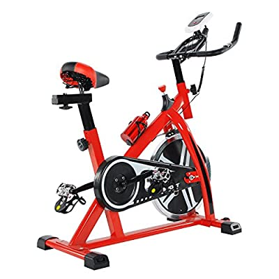 Indoor Cycling Training Exercise Bike, Direct Belt Driven 10kg 13KG 18KG Flywheel with Adjustable Friction Resistance,1 Year Home Use Warranty Only from ULTRAPOWER SPORTS