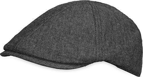 Unisex Sommer Gatsby Cap Baskenmütze Schiebermütze Schirmmütze Beret Herren Damen Verstellbar Kappe Farbe Dunkelgrau