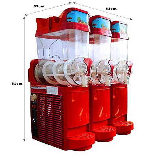 Professioneller Slush Eis Maker 3x15L Slush Eis Maschine Granita Maschine