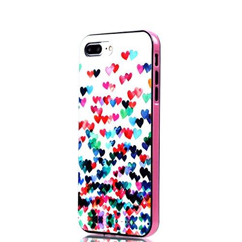 Apple iPhone 8 Plus 5.5 Hülle, Voguecase Schutzhülle / Case / Cover / Hülle / 2 in 1 TPU Gel Skin (Elefanten 06) + Gratis Universal Eingabestift Bunt Herzen