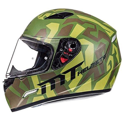 MT Mugello Leopard Casco integrale da moto, stile militare, design mimetico