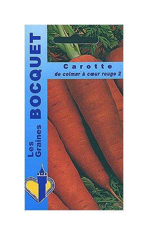 Les Graines Bocquet - Graines De Carotte De Colmar À Cœur Rouge-2 - Graines Potagères À Semer - Sachet De 7Grammes