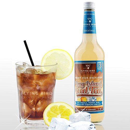 Long Island Iced Tea 32% Vol. - PreMix für 12 alkoholische Cocktails - Flasche 0,7l mit allen Zutaten - einfach auf Eis mit Cola servieren, fertig