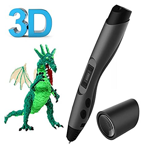 SUNLU Intelligent 3D Pen for Arts,Crafts Drawing and Doodling with PLA Filament - Grey