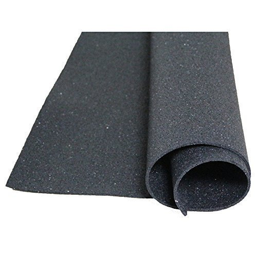 acerto Bautenschutzmatte aus Gummigranulaten - 1m x 3m x 5mm, verrottungsfest