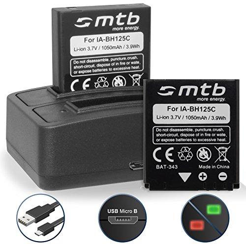 2 Akkus + Dual-Ladegerät (USB) für Ricoh Action Cam WG-M1 / Pentax MX-1, X90 / Sigma DP Merril / Samsung HMX-R10... - s. Liste