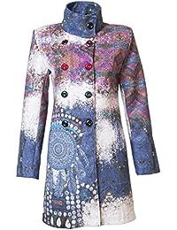 Sehr schöner Damen Luxus Winter Mantel Patchwork Trenchcoat S M L XL XXL 3XL 36 38 40 42 44 46