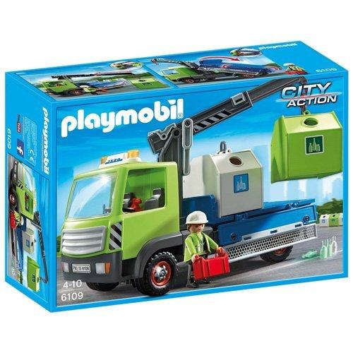 Playmobil Camión de residuos con contenedores para el vidrio (6109)