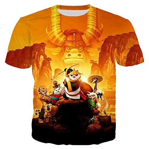 Panda 3D Printed T-Shirts Lustige Mode Sommer Shirts Cooles Shirt für Unisex Casual Top 04 Asian M (Panda Kostüm Jugend)