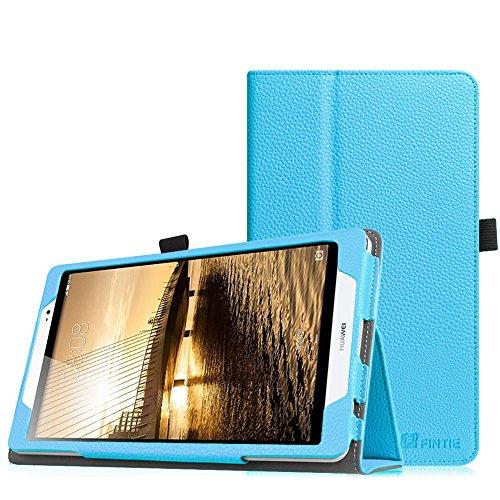 Fintie Huawei MediaPad M2 8.0 Hülle - Slim Fit Kunstleder (Folio) Schutzhülle Tasche Case Cover Standfunktion und Stylus-Halterung für Huawei MediaPad M2 8 Zoll LTE/WiFi Tablet-PC, Blau