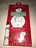 Pack Of 6 Make Your Own Personalised Christmas Crackers Hats Snaps Cute Snowman