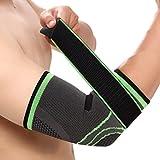 Brinny Fixierbare Premium Ellenbogenbandage für Herren Damen elastisch Schutz einstellbare Kompression Ideal für Team Ausdauer Leistungs oder Kraftsport Beugt Gelenkproblemen oder Tennisarm