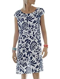 Leinen Kleid im Paisley-Design Kurzarm Summer Collection