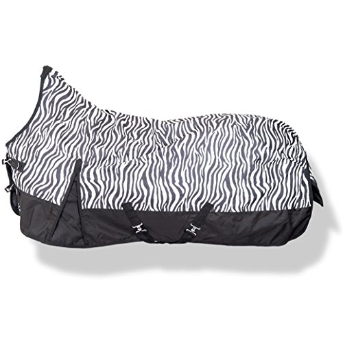 Weidedecke Highneck 600D SUMMER DREAM HKM zebra 145cm