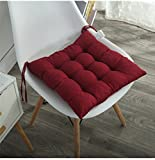 #3: AMZ Premium Microfibre Chair Pad Cushion Seat Pads Seat Cushion Indoor Outdoor Dining Home Office Garden Decor-15x15 inches (Maroon)