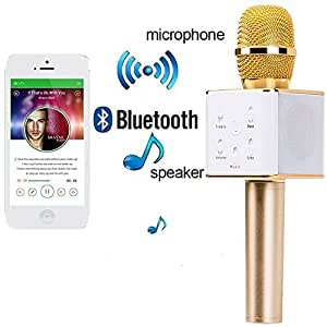 Padraig Handheld Bluetooth Mike and Speaker with Audio Recording Facility for Karoke Singing Compatible with OnePlus 3T (Multicolor)