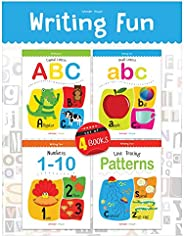 Writing Practice Boxset: Pack of 4 Books (Writing Fun: Write And Practice Capital Letters, Small Letters, Patt