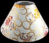 "RDC 10"" Round Cream with Golden Polka Dots with Flower Design Lamp Shade for Table Lamp or Floor Lamp"