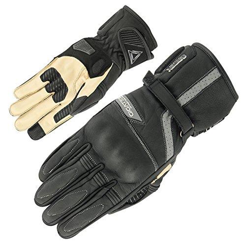 Orina Motorradhandschuhe Bigsize Übergröße Herren Sommer Leder Handschuhe Big (34 cm)