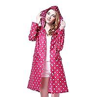 KK Miler Lightweight Thin Female Waterproof Poncho Long Packable Hooded Raincoat Foldable Rain Cape Stylish Mac (38