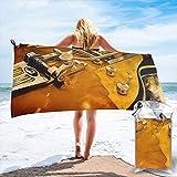 popluck Serviette de Voyage Portable en Microfibre pour Guitare électrique à séchage Rapide, Super Douce, Ultra légère pour Voyage, Plage, Camping, Gym, Natation, Sport