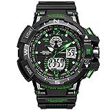 c71c25b45840 Analógico Digital Reloj Militar reloj deportivo para hombre doble esfera  Business Casual multifunción electrónico muñeca relojes