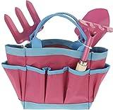 Kinder Gartengeräte Mini Gartenwerkzeuge Set 4 teilig, Kinderschaufel, Kinderrechen, Harke und...