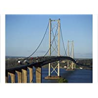 A4 Fine Art Print of The Forth Road Bridge, built in 1964, Firth of Forth, Scotland (3658630)