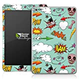 Apple iPad Mini Case Skin Sticker aus Vinyl-Folie Aufkleber Totenkopf Comic Bombe Sticker Style