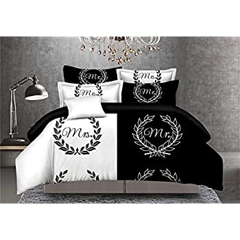 nightlife housse de couette moustache monsieur et madame. Black Bedroom Furniture Sets. Home Design Ideas