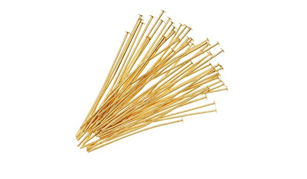 21 Gauge 22K Gold Plated Head Pins 50 2 Inches