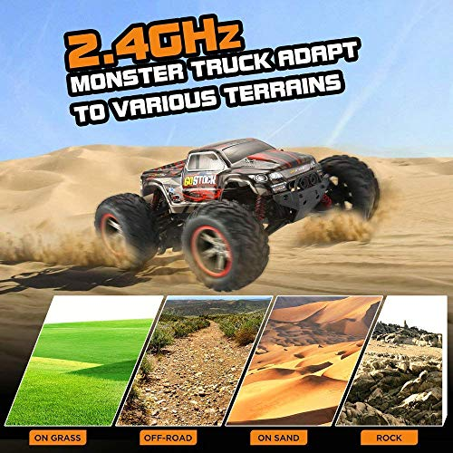 RC Auto kaufen Monstertruck Bild 5: GoStock Ferngesteuertes Auto, 1:12 Skala RC Auto Off Road Elektro Fahrzeug 2.4G Hohe Geschwindigkeit von 42 km/h Alles Gelände Ferngesteuerter Auto für Kinder Draußen*