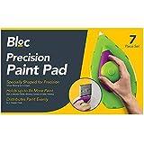 Nitaar 7-teiliges Punkt- und Farb-Pad Pro Set mit Tablett Roller Malerecken Eckrand Dekorationsschwamm