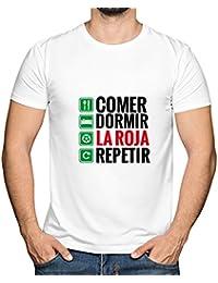 Camiseta 'Nací español a qué Quieres Que te Gane' (Rojo, M)