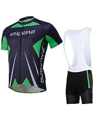 Tops en jersey de cyclisme avec collants en bavette Shorts Tissu en polyester doux Quick Dry Vélos pour hommes Short à manches courtes avec Ensemble de plaques 3D pour été Printemps Automne