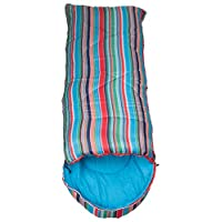 Mountain Warehouse Apex Mini Square Patterned Sleeping Bag - 2 Season, Lightweight, Insulated 25