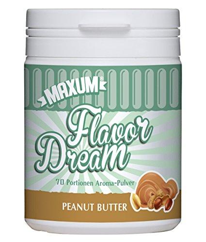 Maxum Flavor Dream Peanut Butter Aroma Pulver (105g Dose, kalorienarm, ideal als Lebensmittel- & Back-Aroma bei Low-Carb Diät, Geschmack: Erdnussbutter)