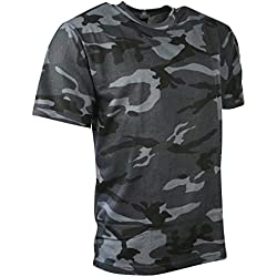Kombat UK-Camiseta de camuflaje de los hombres, hombre, color azul oscuro, tamaño M