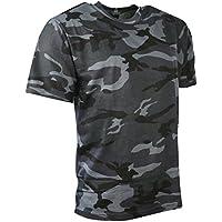 Kombat de Hombre Camiseta de Camuflaje, Hombre, Color Azul Oscuro, tamaño L