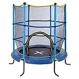 Ultrasport Kinder Jumper Indoor Trampolin, Blau, 140 cm