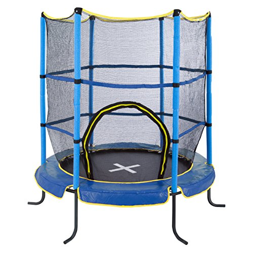 Ultrasport Kinder Jumper Indoor Trampolin, Blau, 140 cm