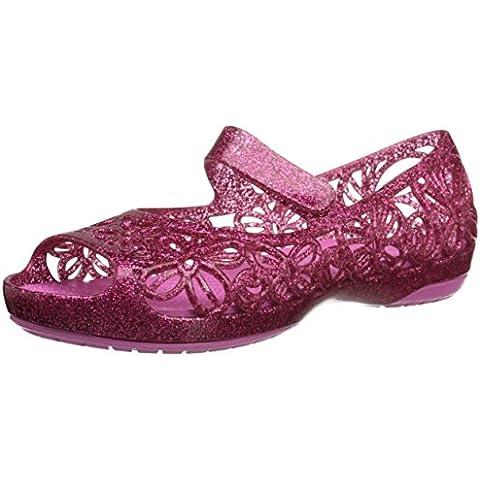 Crocs - Isabella Glitter Ps, Ballerine basse con punta aperta