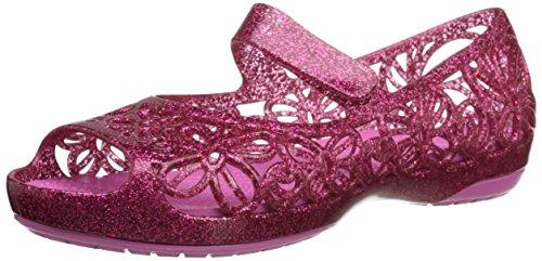 Crocs Isabella Glitter Ps, Mädchen Ballerinas, Rot (Fuchsia/Candy Pink 6IM), 22/23 EU