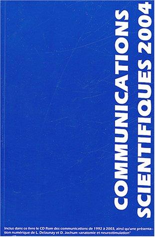 Communications scientifiques MAPAR 2004