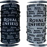 #7: Delhitraderss Royal Enfield 13 in 1 Multifuntional headwrap / Bandana 2 piece Combo (Black and White)