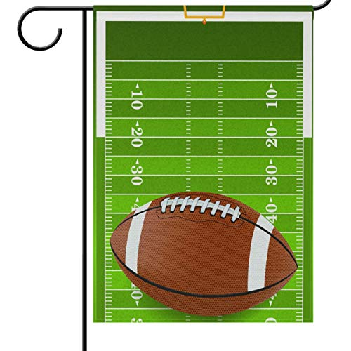 fdgjfghjdfj Fall and Football Garden Flag 12 x 18, American Football Green Grass Field Stadium Funny Sports Soccer Ball Double-Side House Yard Outdoor Flags Banner for Football Party Favor -
