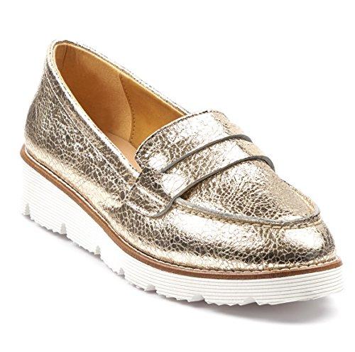 BOBERCK Val Collection Women's Slip-On Loafer Gold