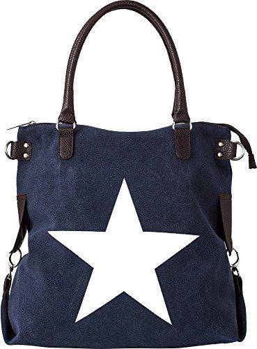 Bags4Less - F3151, Borsa a tracolla Donna Veloure-Navyblau